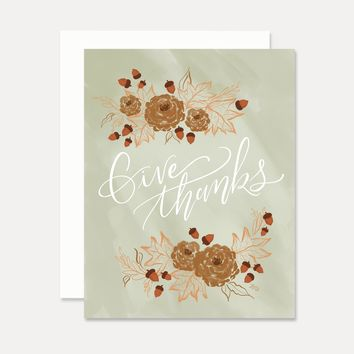 Give Thanks - A2 Note Card