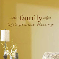 Family Wall Decal- Family-life's greatest blessing- Vinyl Wall Decal