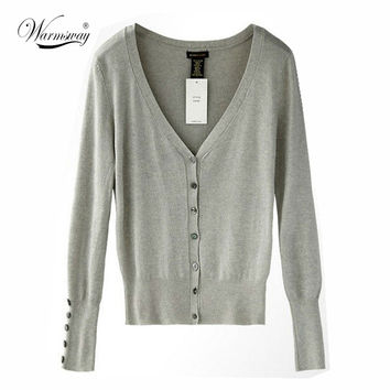 HOT!!American Apparel Brand Quality Shell button KNIT TOP Womens Loose Knitting Cardigan Knitting Shirt Shawl Shrugs WS-018