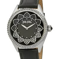 Folli Follie Ladies Stainless Steel and Crystal Love Time Watch