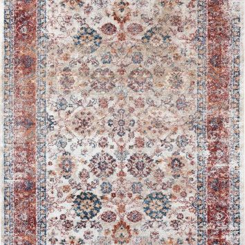 2218 Ivory Persian Distressed Oriental Area Rugs