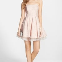 Junior Women's Soprano Strapless Lace & Tulle Skater Dress