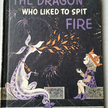 1962 The Dragon Who Liked To Spit Fire by Judy Varga, Rare Vintage Children's Book, Out of Print, Dragons, Prince & Dragon, Dragon Book