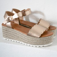 Rose Gold Espadrilles Shoes