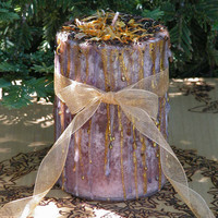 Witches Gathering . Herbal Alchemy Magick Candle 3x4 . Eternal Friendship, Love, Blessings . Vanilla Caramel Lemon Cake, Coffee, Fennel
