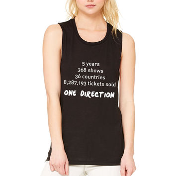"""One Direction """"Stats"""" Muscle Tee"""