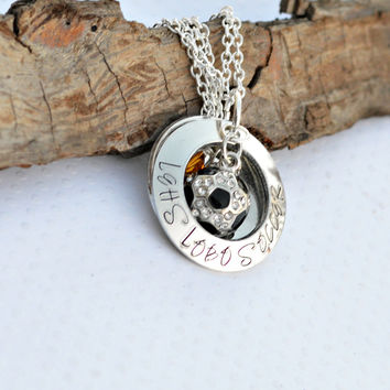 Highschool Soccer Necklace - Soccer Gift ideas for Coach or Mom
