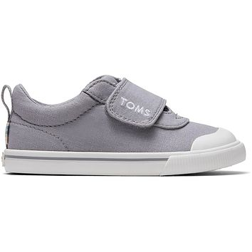 TOMS - Tiny Drizzle Grey Canvas Doheny Sneakers