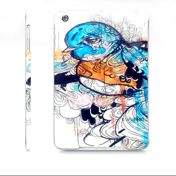 iPad mini cover - Cute iPad Mini case - Bird art - Blue bird art - Watercolor iPad mini case - Watercolor art - Device case