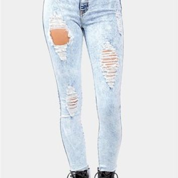 Sweet Slice Jeans - Light Blue