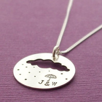 Personalized Jewelry Rain Cloud Umbrella by EclecticWendyDesigns