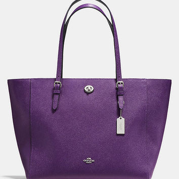 COACH TURNLOCK TOTE IN BICOLOR CROSSGRAIN LEATHER | Dillards