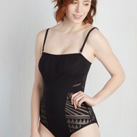 Spaghetti Straps Dancing Shadows One-Piece Swimsuit