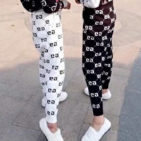 Gucci Women Fashion Casual Knit Double G Stretch Leggings Sport Pants Trousers