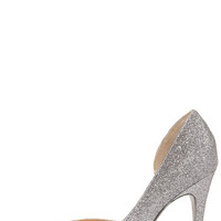 Chinese Laundry Copertina Pewter Glitter D'Orsay Heels