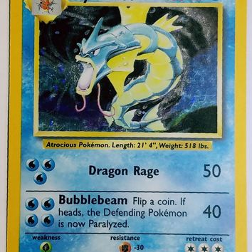 GYARADOS 6/102 HOLO RARE Pokemon Base Set SPARKLING FOIL - HOT! Hard to Find! NM