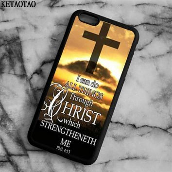 KETAOTAO Jesus Christ Christianity Bible Phone Cases for iPhone 4S 5C 5S 6S 7 8 Plus X for Samsung Case Soft TPU Rubber Silicone