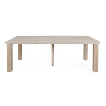 Capri Outdoor Dining Table Gray Teak | Solid Teak Wood