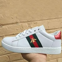 GUCCI Bee Woman Men Fashion Old Skool Sneakers Sport Shoes