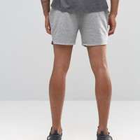 ASOS Jersey Runner Shorts In Grey Marl