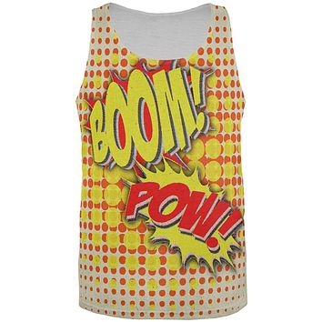 Halloween Boom Pow Vintage Comic Book Costume All Over Mens Tank Top
