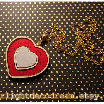 MADE to ORDER Sugar Sugar Rune Chocolat Heart Inspired Acrylic Necklace for Mahou Kei & Magical Girl Fashion