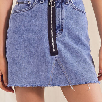 Urban Renewal Recycled High-Rise O-Ring Denim Skirt | Urban Outfitters