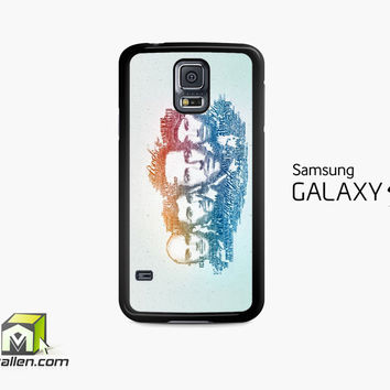 Coldplay Faces Lyrics Design Samsung Galaxy S5 Case Cover by Avallen