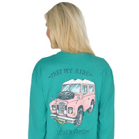 Prep My Ride Long Sleeve Tee in Tropical Green by Lauren James