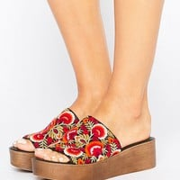 ASOS TO BE IN LOVE Embroidery Mules at asos.com
