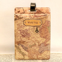 Trip Word Map Luggage Tag Personality Special Pilot Shoulder Mark Handbag Tag Travel Accessories