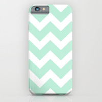 Chevron Mint Green & White iPhone & iPod Case by BeautifulHomes