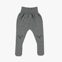 Tocoto Vintage Baby Girl Knitted Tights in Grey - W2115
