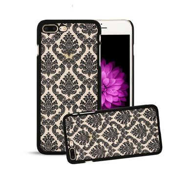 7 Plus Retro Palace Flower Case For Iphone 7 6 6s Plus SE 5 5s Fashion Vintage Floral Henna Paisley Mandala Phone Cases PC Cover