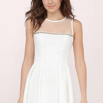 Embellished Love Skater Dress