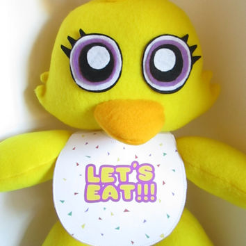 Chica Plush Inspired by FNAF Five Nights at Freddy's (Unofficial)