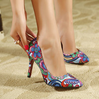 Women pumps 2016 hot leather sexy pointed toe ladies high heel shoes wedding shoes