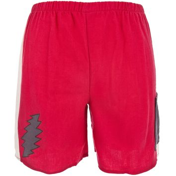 Grateful Dead - Lightning Bolt Red Juvy Shorts