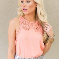 Just Enough Lace Collar Tank