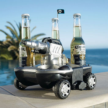 Electric Land/Water Vehicle for Drinks