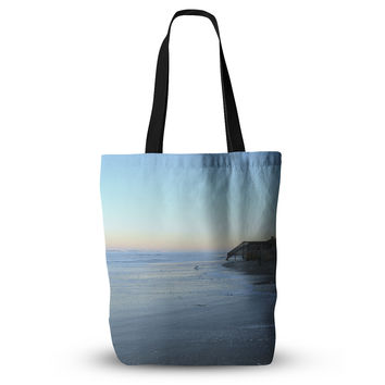 "Robin Dickinson ""Sand Surf Sunshine"" Beach Everything Tote Bag"