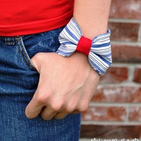 My Own Road: Button Down Rehab Day 6: Bow Cuff Bracelet