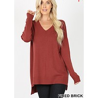 Wardrobe Malfunction Sweater - Fired Brick