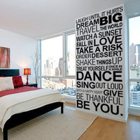Vinyl Quote Wall Decoration - Simple Things of Life decal