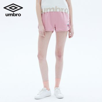 Umbro Summer New Women Elastic Waist Short Pants Women Fitness Loose Solid Soft Mini Short Femme cotton UCC63730