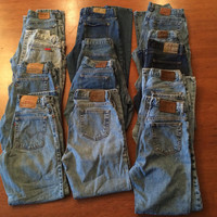 Sale! Vintage Women's Jeans Lot, Levi, Riders, American Eagle, Calvin Klein, London, Lee, USA/Mexico/Canada 100% Cotton
