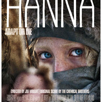 Hanna Adapt or Die Saoirse Ronan Movie Poster 11x17