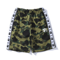 Bape Aape  New fashion string mark print camouflage shorts