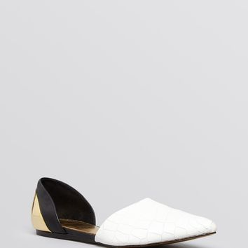 Ted Baker Pointed Toe D'Orsay Flats - Cadeen