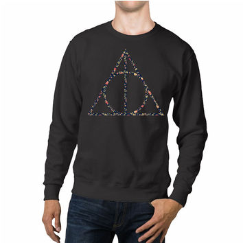 Harry Potter Deathly Hallows Floral Symbol Unisex Sweaters - 54R Sweater